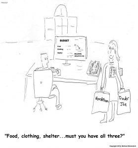 Harold Mug, Food, Clothing, Shelter