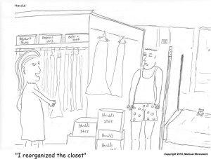 Harold Mug, Reorganized Closet