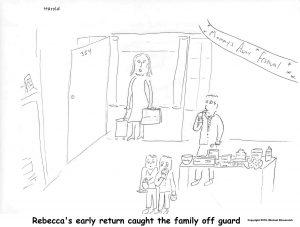 Harold Mug - Family surprised by Rebecca's return