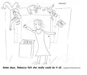 Harold Mug: Rebecca Juggling Her Life