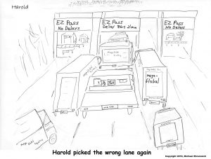 Harold Mug. Harold stuck in traffic