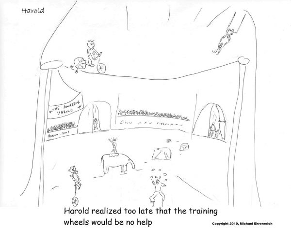 Harold Mug - Harold realized too late that the training wheels would be no help