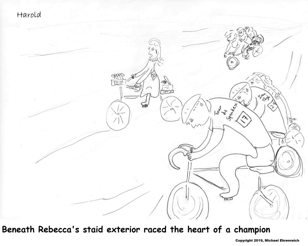 Harodl Mug - Beneath Rebecca's staid exterior raced the heart of a champion