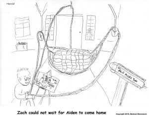 HArold Mug - Zach could not wait for Aiden to come home